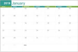 january calendar printable templates editable blank