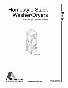 Homestyle Stack Washer  Dryer Parts Manual