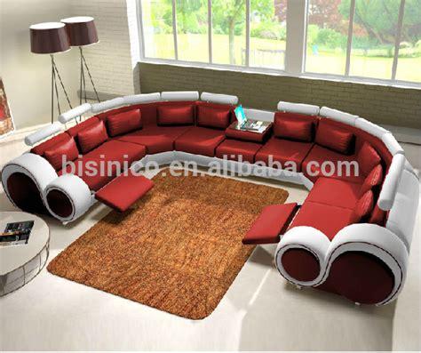 sofá em u new design modern creative u shape genuine leather