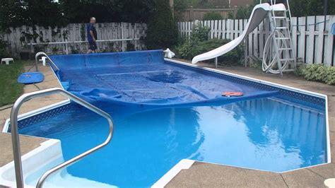 toile de piscine creusee rouleau de toile solaire automatique