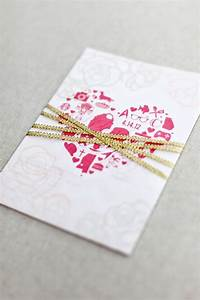 beth michael39s pink and gold foil wedding invitations With michaels gold wedding invitations