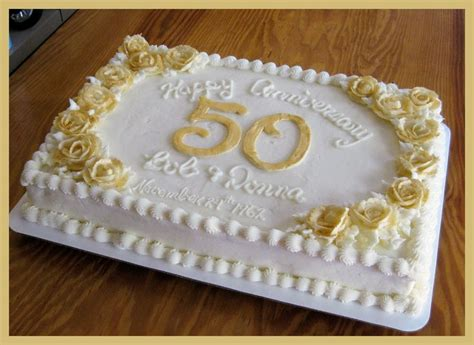 1000  images about 50th anniversary cake on Pinterest   Wedding anniversary cakes, Golden