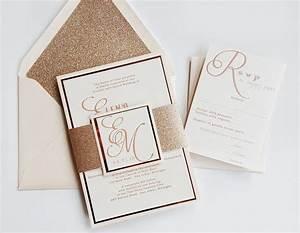 rose gold wedding invitation rose gold glitter and blush With handmade rose gold wedding invitations
