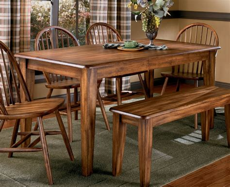 bench style table and chairs best wooden country style dining table and chairs