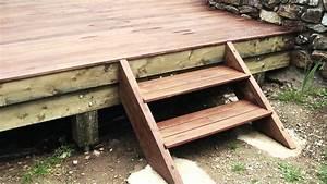 terrasse en ipe sur pilotis youtube With terrasse bois pilotis plan