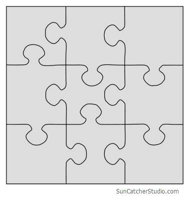 diy jigsaw puzzles  patterns stencils  templates