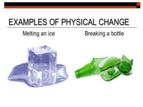 Physical Changes of Matter Examples