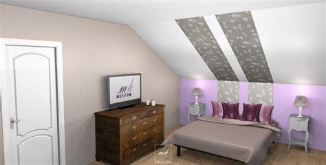peinture murale pour chambre adulte décoration chambre sous pente