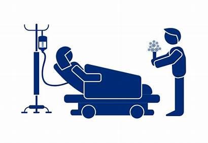 Sick Person Bed Patient Hospital Visiting Visitors