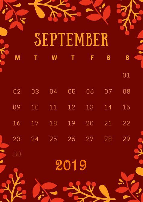 september  iphone wallpaper calendar calendar template printable