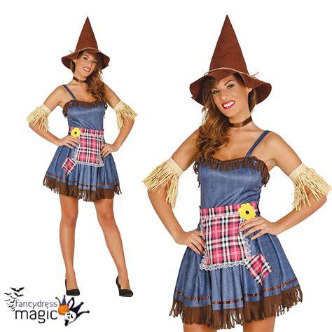 Damen Vogelscheuche Zauberer von Oz Halloween Sexy