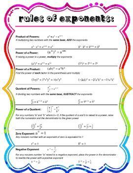 rules  exponents reference sheet  elizabeth kissel tpt