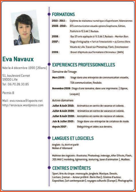 Exemple De Présentation De Cv by Pr 233 Sentation Cv Maquette Cv Jaoloron