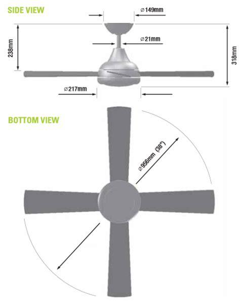 ceiling fan dimensions   celling fan dimension