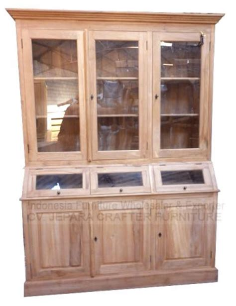 teak wood kitchen cabinets antique wooden cabinets with glass doors indonesia 6017