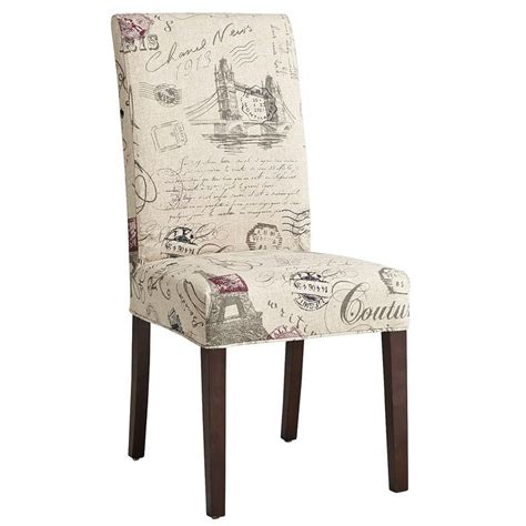 dana slipcover script dining chair dining room delight