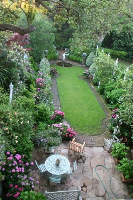 small formal garden backyard paradise