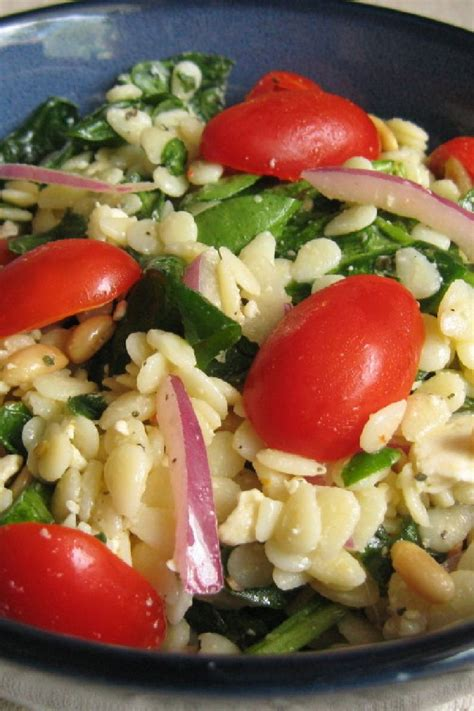 Orzo Salad Recipes with Spinach