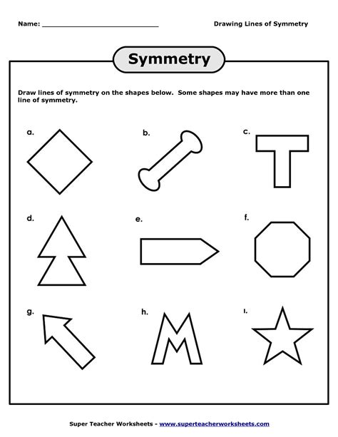 14 Best Images Of Lines Of Symmetry Worksheets  Line Symmetry Worksheets, Shapes With Lines Of