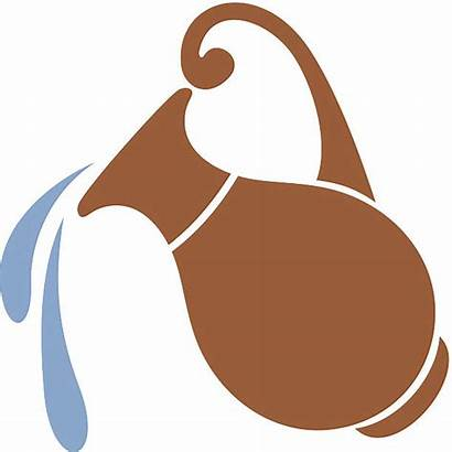 Water Clay Jar Silhouette Vector Pitcher Jug