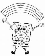 Spongebob Coloring Rainbow Spongyabob Bob Sponge Sheets Colouring Színez� Printable Ingyenes Happy Cartoon Skateboard Colorat Kid Drawings Nyomtatható Adult Playing sketch template