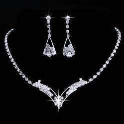 bridesmaid jewelry set bridesmaid silver necklace earrings set wedding fashion jewellery set ebay