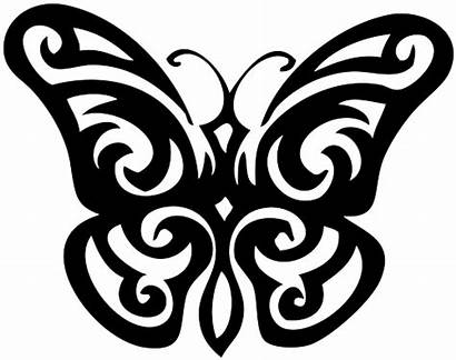 Butterfly Tattoo Designs Transparent Tribal Tattoos Clipart
