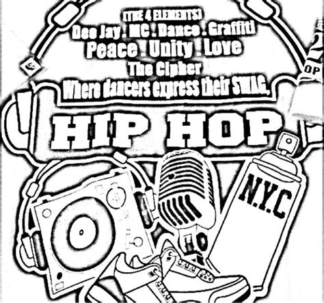 Hip Hop Graffiti Kleurplaat by Hip Hop Elements Hip Hop Coloring Book Compiled By Jamee