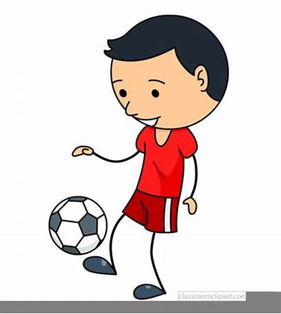 Soccer Clipart Playing Stick Figure Clip Play