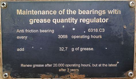 Bearing Grease Replenishment