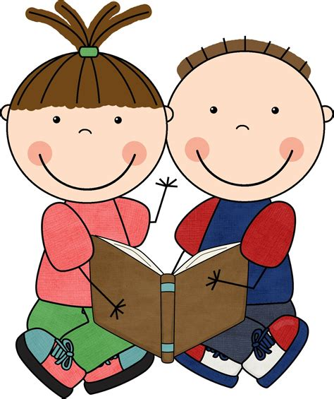 students reading clipart clip children reading books clipart best