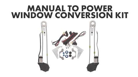 Manual Power Window Conversion Kit Youtube