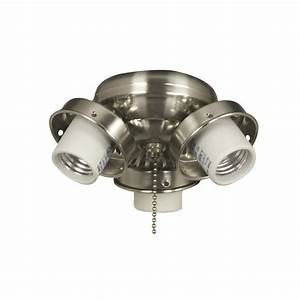 Harbor breeze light brushed chrome ceiling fan