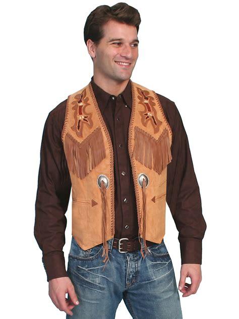 faux suede jacket mens western vest leather western vests fringe vests