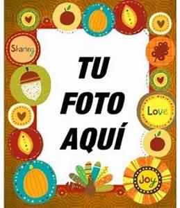 Marco para fotos con pegatinas del Thanksgiving Day Fotoefectos