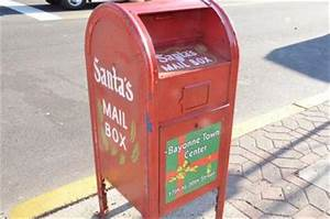 Two mailboxes in bayonne accepting only letters to santa for Letters to santa mailbox for sale
