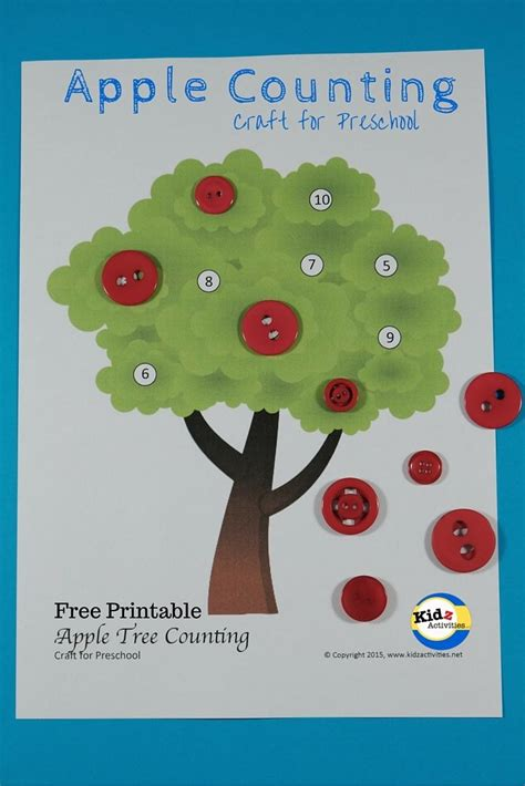 apple counting craft for preschool by kidz activities 489 | 3951fc97665ffbebdd110de6724dfd9e
