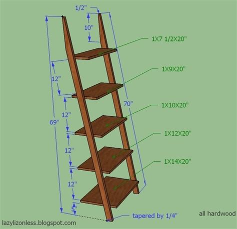 Ladder Bookcase Plans by White Ladder Shelf Diy Projects