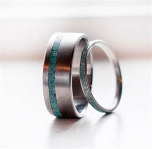 Matching Pair Turquoise Wedding Bands From StagHeadDesigns On