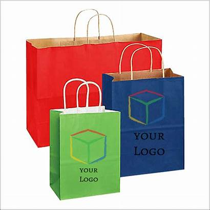 Paper Bags Shopping Retail Custom Colored Uline