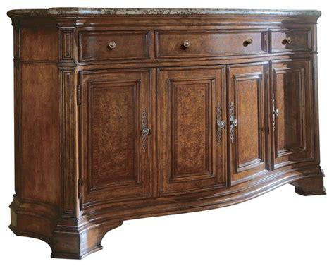 traditional credenza villa cortina storage credenza w marble top traditional