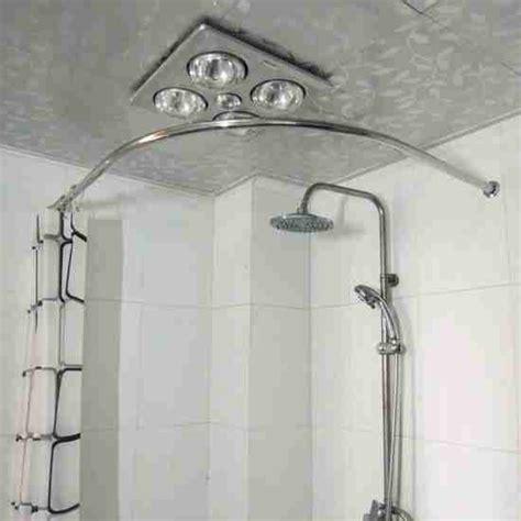 corner tub shower curtain rod decor ideasdecor ideas
