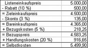 Listeneinkaufspreis Berechnen : handelskalkulation schema handelskalkulation schema preisplanung die preisplanung die ~ Themetempest.com Abrechnung