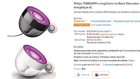 le philips living colors pas cher le philips living colors 224 54 90 au lieu de 99 sur