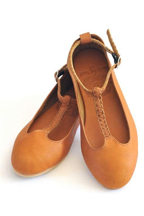 grace leather ballet flats womens flat shoes