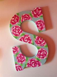 lilly pulitzer designed letter 39s39 ssssabine pinterest With lilly pulitzer letters