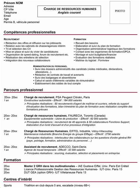 Cv Par Competences Exemples Gratuit by 14 Comp 233 Tences Dans Un Cv Exemple Cv 233 Tudiant