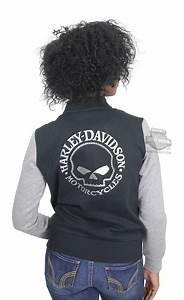 Small Clothing Size Chart Harley Davidson Womens Willie G Skull Activewear Bomber