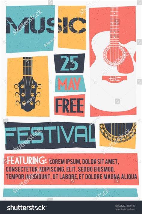 concert banner template psd free vector template concert poster flyer featuring stock