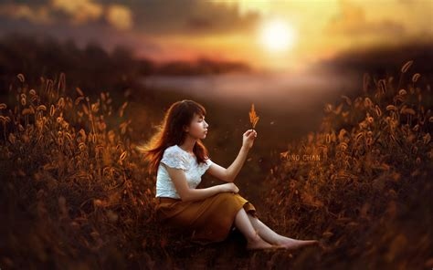 sunset girl fantasy wallpapers hd wallpapers id
